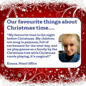 Emma's favourite things about christmas